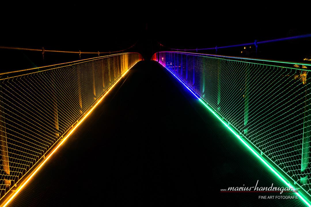 Mariensteg Wernstein Beleuchtete Brücke