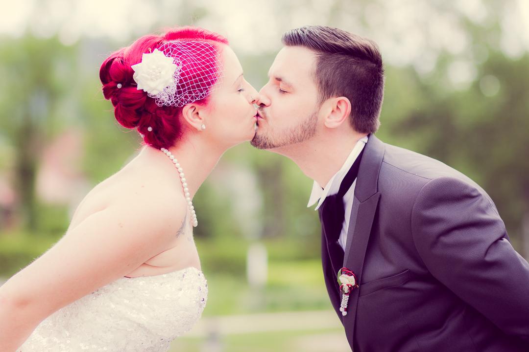 Romantische Brautfotos