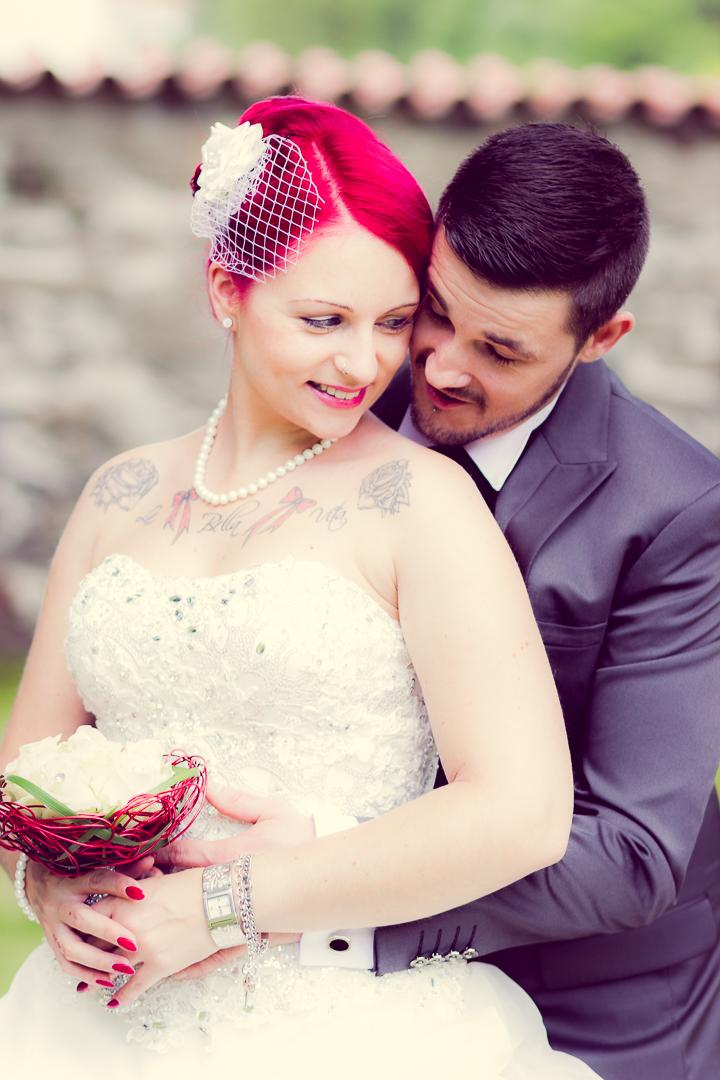 Zärtliche Brautpaarbilder