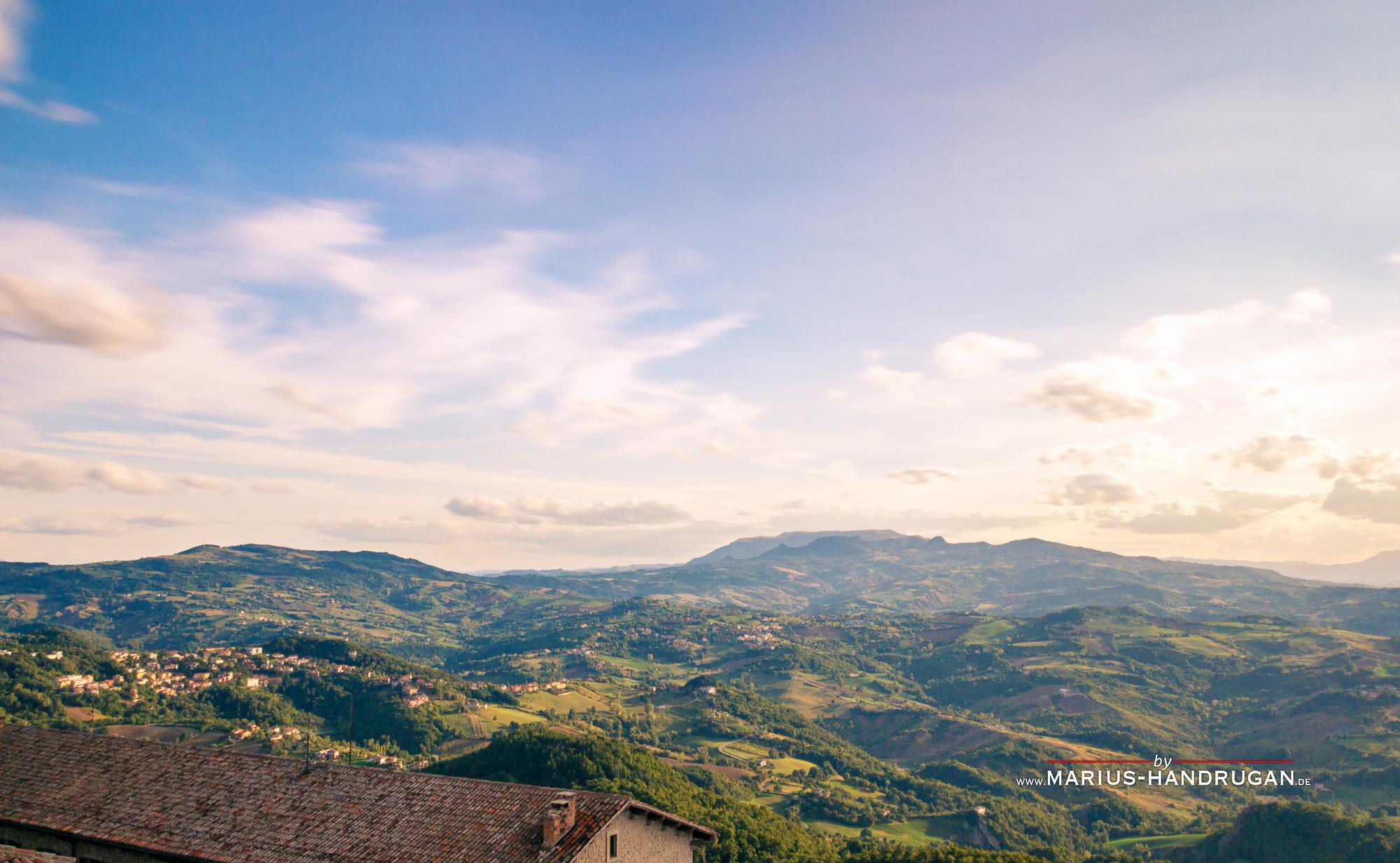 Ewige Landschaft in San Marino Italien