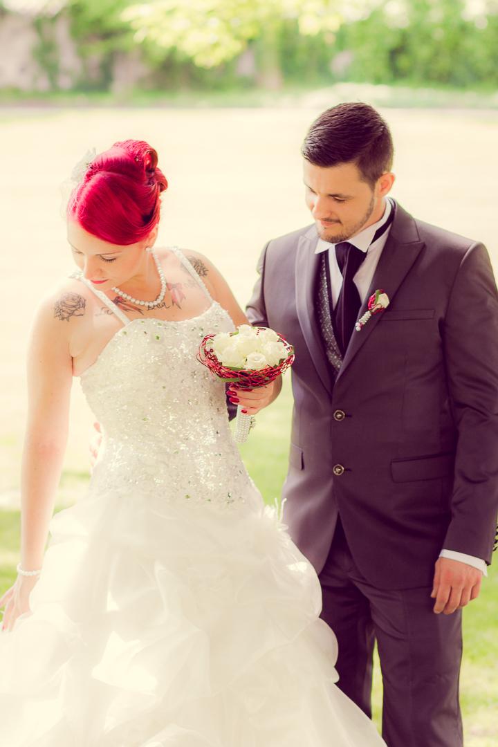 Zärtliche Hochzeitsfotos