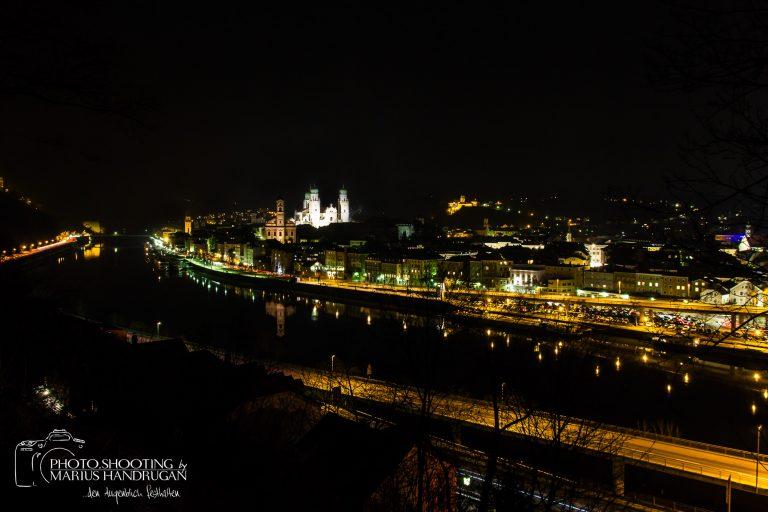 Nachtaufnahme über Passau
