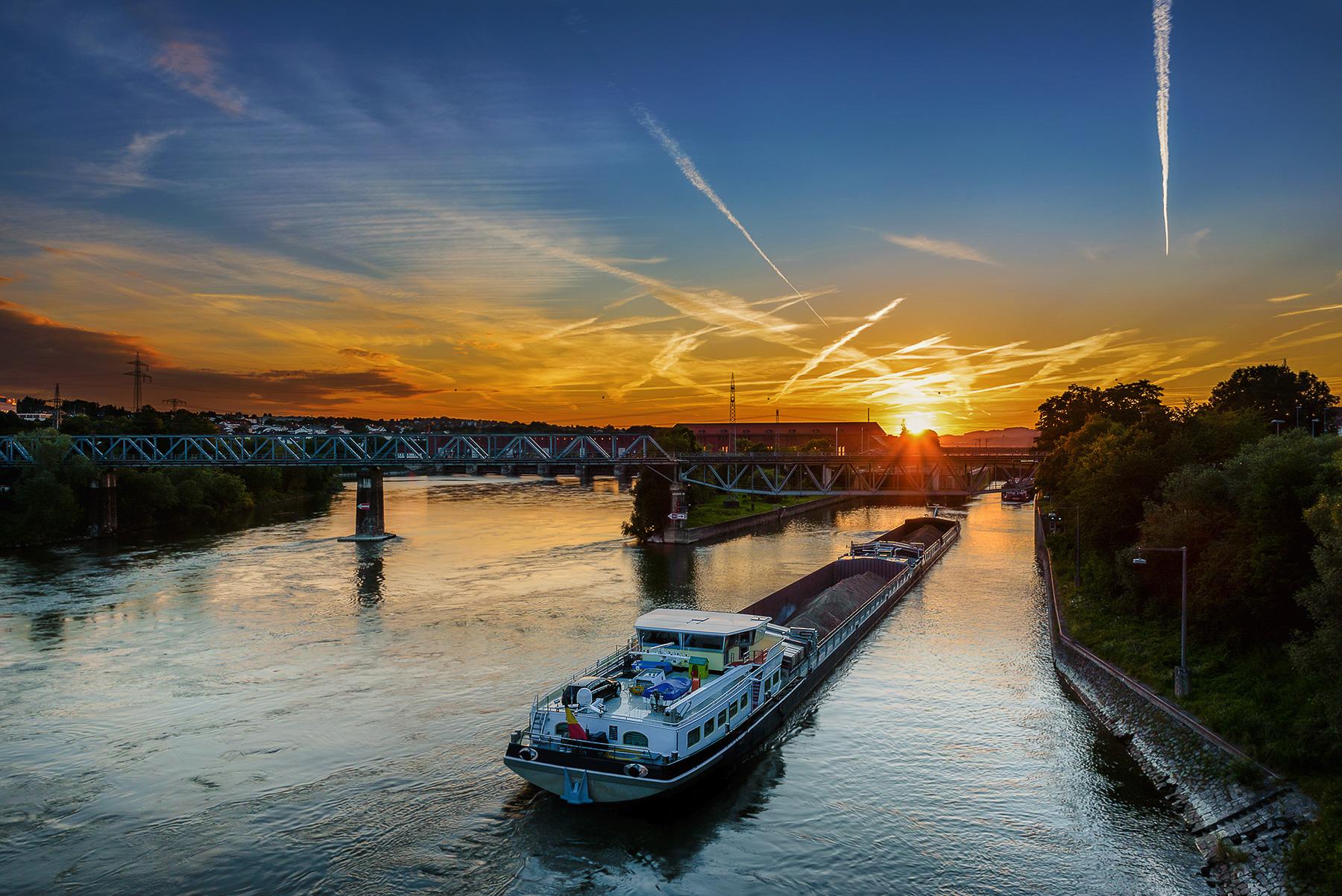 Sonnenuntergang in Passau über Kachlet
