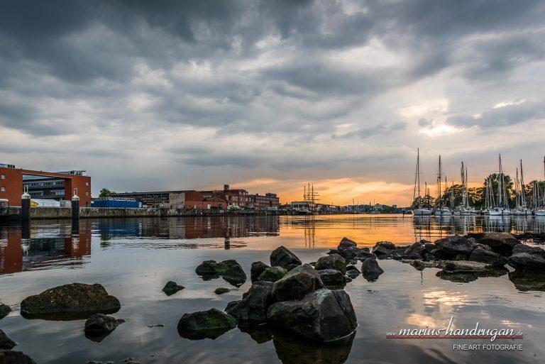 Sonnenuntergang in Kiel