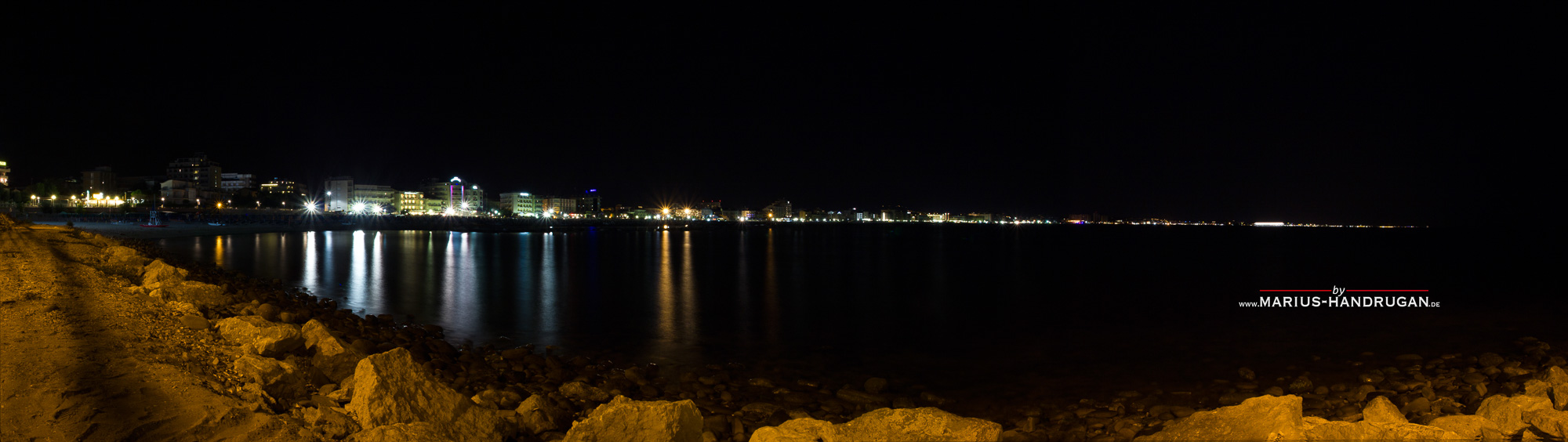 Stadt Panorama am Meer