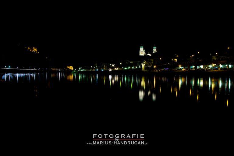 Nachtaufnahme von Passau