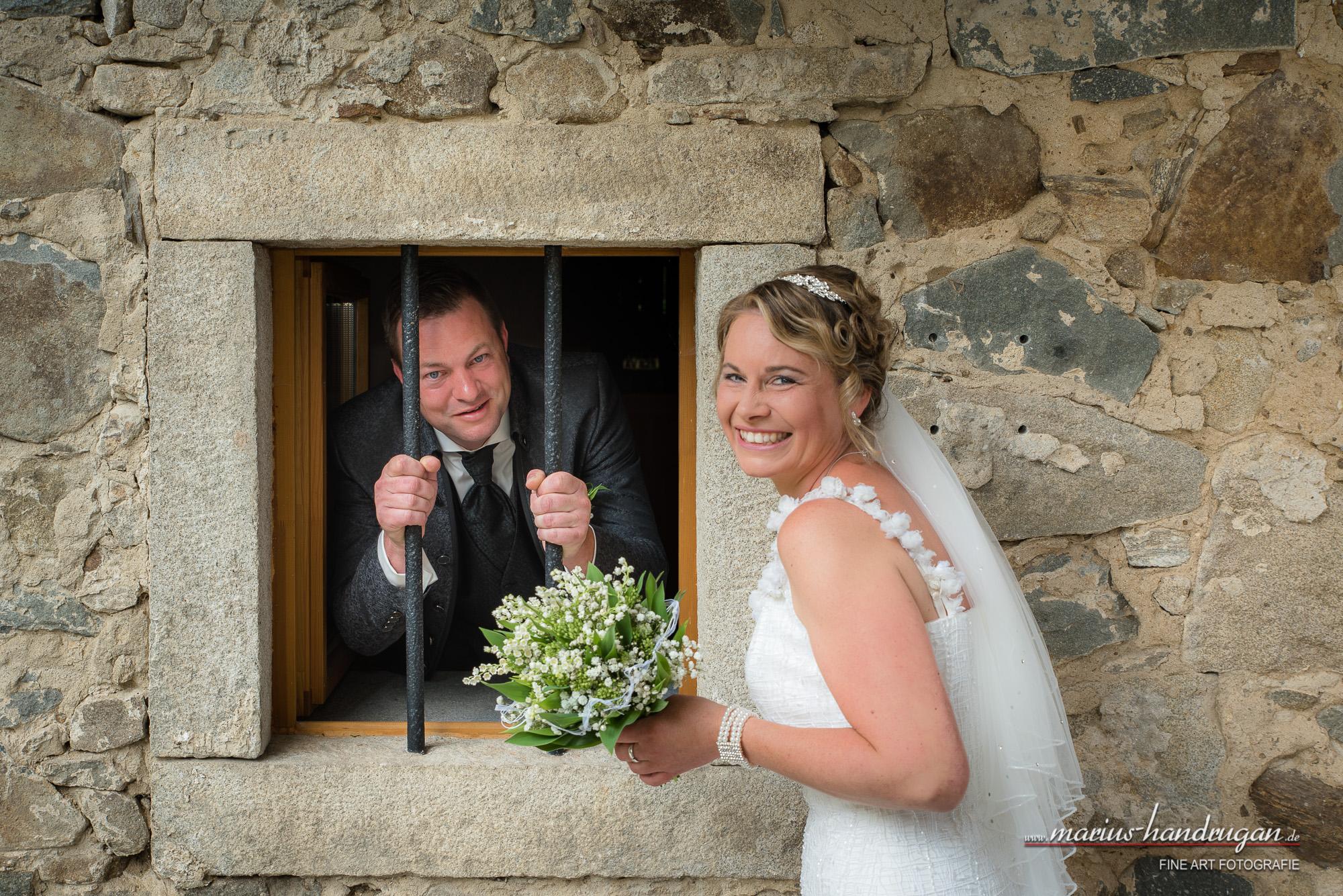 Lustiges Brautpaar Shooting